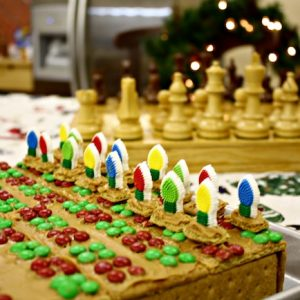 Gingerbread House Chess Board
