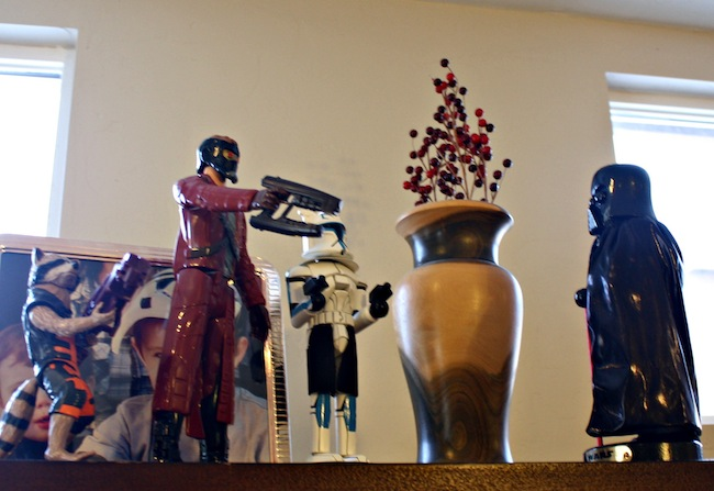 Guadians of the Galaxy Fighting Darth Vadar