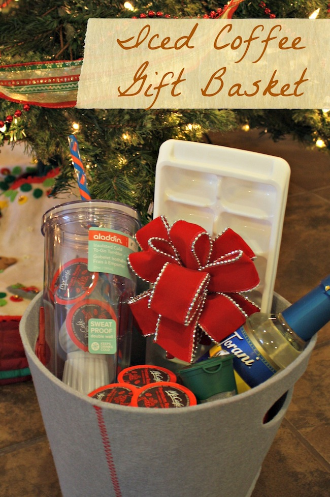 iced coffee gift basket ideas desert chica