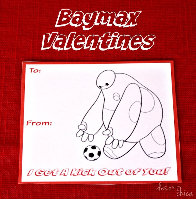 Baymax valentines soccer