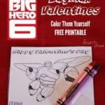 Big Hero 6 Color Yourself Valentines
