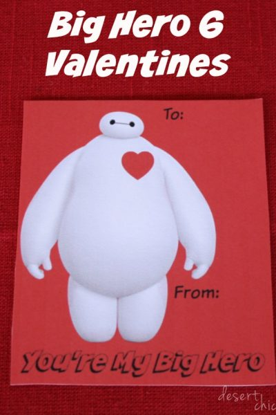 Big Hero 6- Baymax Printable Valentines