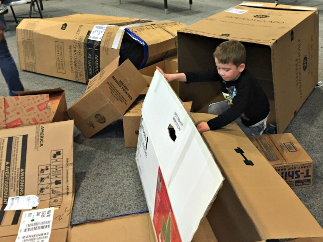 Cardboard box party activities