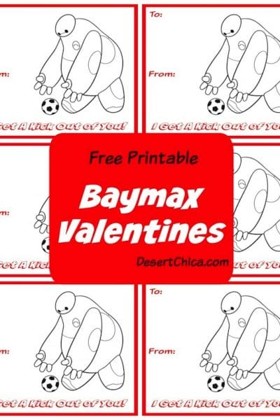 Baymax from big hero 6 kicking a soccer ball on valentines
