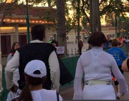 Hans Solo Princess Leia Running Costume