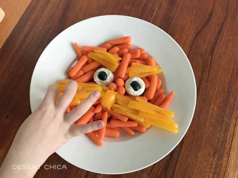The Lorax Veggie Tray can be fun Dr. Seuss Snacks for school or birthday parties