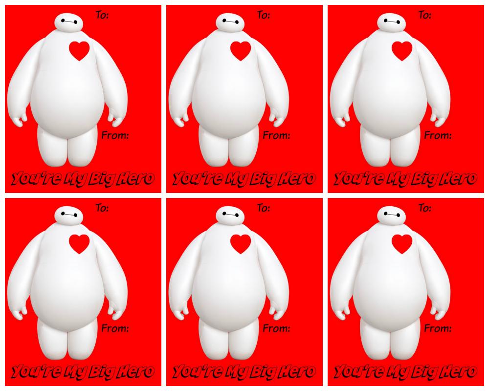 Big hero 6 valentines