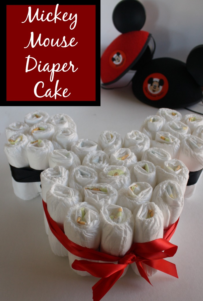 Mickey Mouse Diaper Cake Desert Chica
