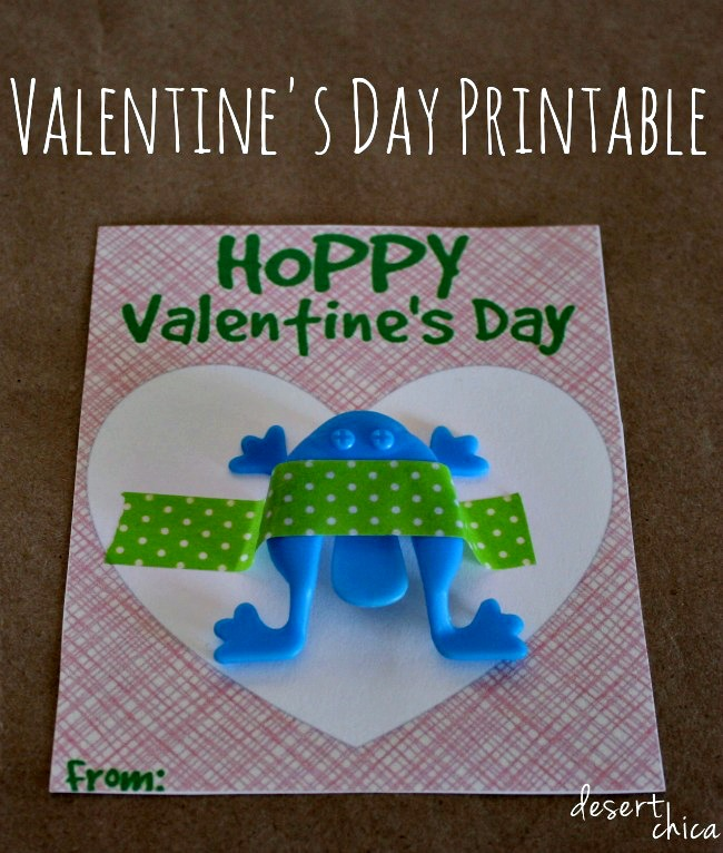 Free Frog Valentines Day Printable