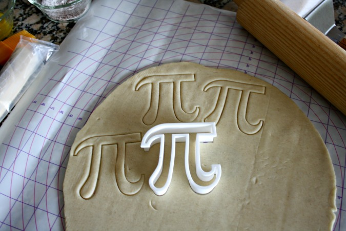 Pi shaped cookie cutter for pi day cookies