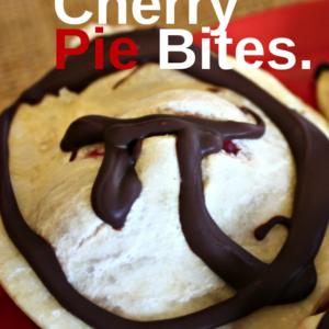 Dark Chocolate Cherry Pie Bites