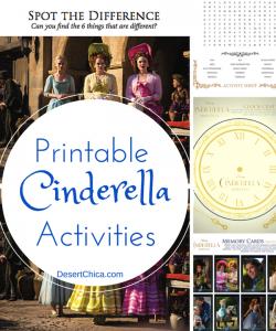 Printable Cinderella Activities