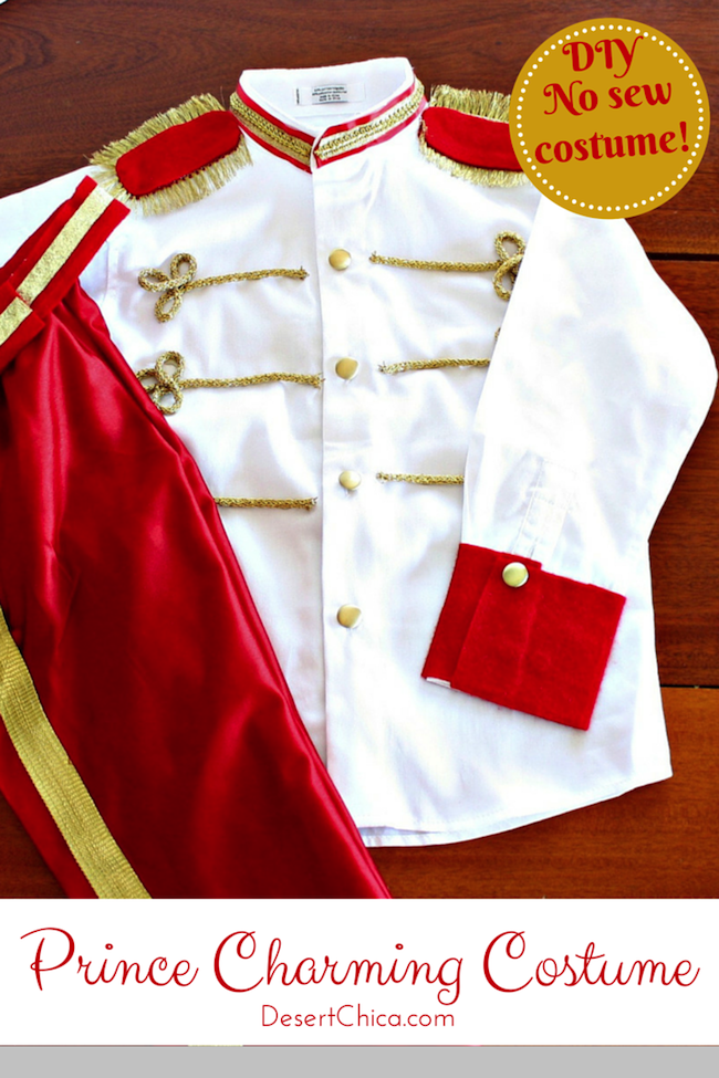 No sew prince charming costume diy tutorial desert chica how to make a no sew prince charming costume this diy prince costume is perfect solutioingenieria Images
