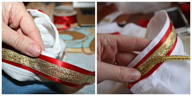 DIY Prince Charming Costume Ribbon Collar Detail
