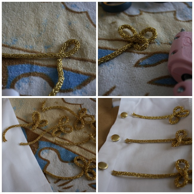 DIY Prince Charming Costume Shirt Detail