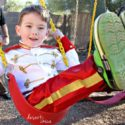 Prince Charming Costume on a swing
