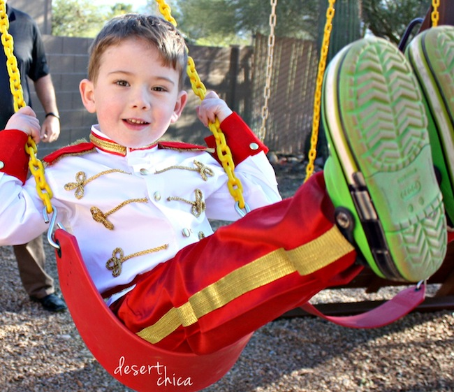 No sew prince charming costume diy tutorial desert chica prince charming costume on a swing solutioingenieria Images