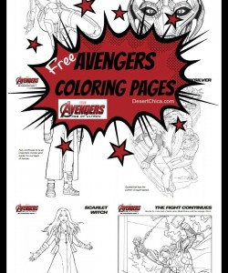 Free Avengers: Age of Ultron Coloring Pages