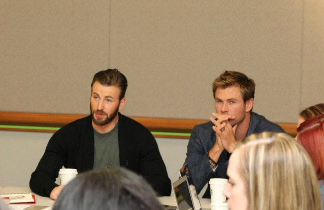 Chris Evans and Chris Helmsworth #AvengersEvent