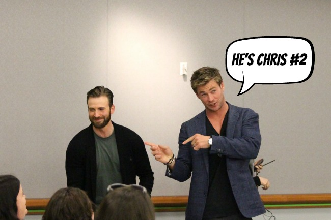 Christ 1 and Chris 2 #AvengersEvent