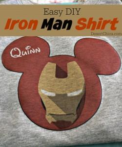 Easy DIY Iron Man Shirt #AvengersEvent