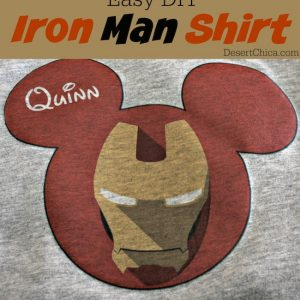 Easy DIY Iron Man Shirt