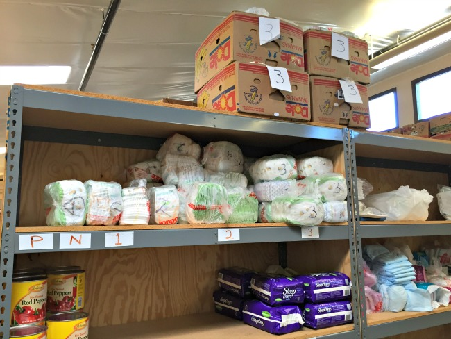 Diapers at the ICS Food Pantry
