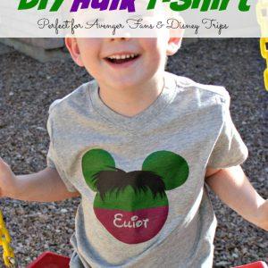 Easy DIY Hulk Shirt #AvengersEvent