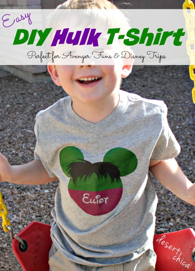 Easy DIY Hulk shirt