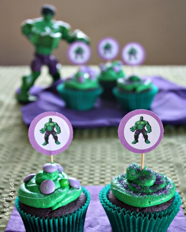 Easy Hulk Cupcakes Desert Chica