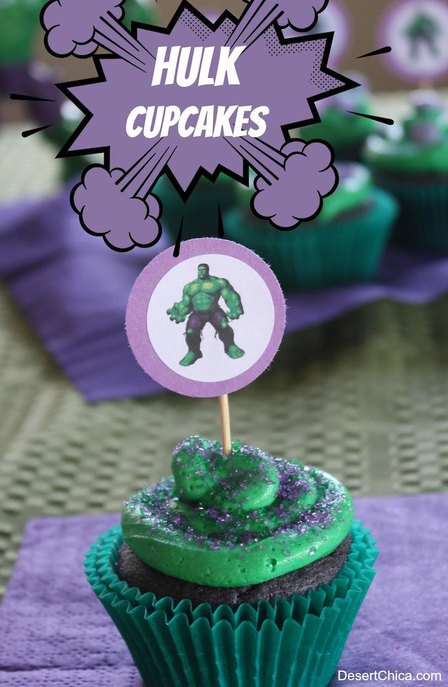 Easy Hulk Cupcakes