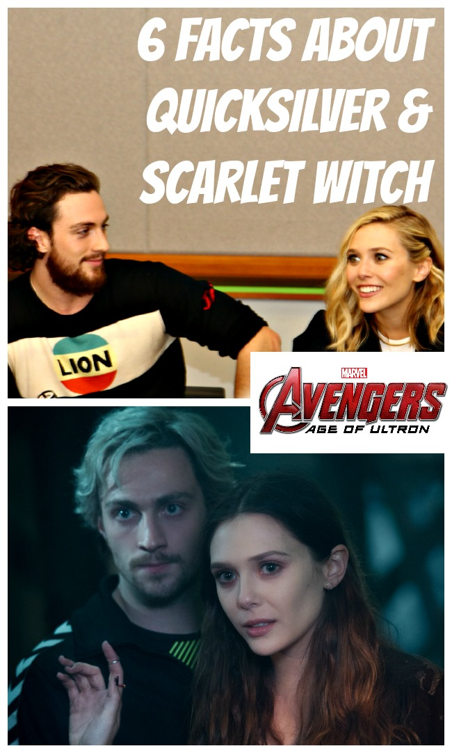 Facts about quicksilver and scarlet witch