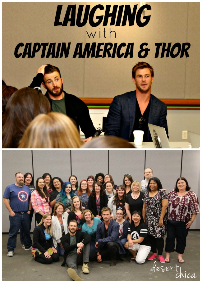 Laughing With Captain America and Thor