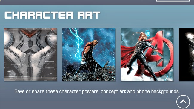 Marve Avengers Age of Ultron Character Art App