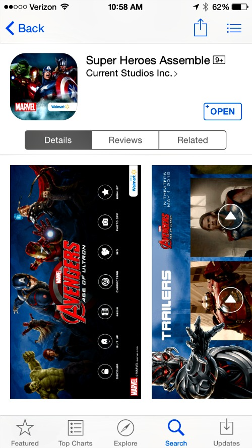 Super Heroes Assemble Avengers age of ultron app
