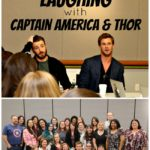 Laughing with Captain America and Thor #AvengersEvent