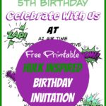 Hulk Birthday Invitations Free Printable Template
