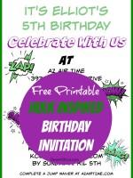Hulk Birthday Invites