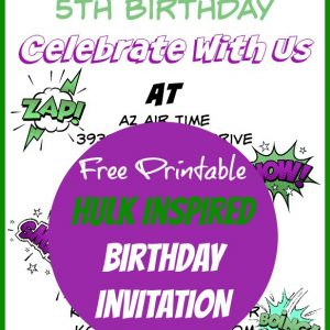 Hulk Birthday Invites
