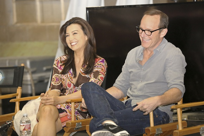 MARVEL'S AGENTS OF S.H.I.E.L.D. - Bloggers event (ABC/Adam Taylor) MING-NA WEN, CLARK GREGG