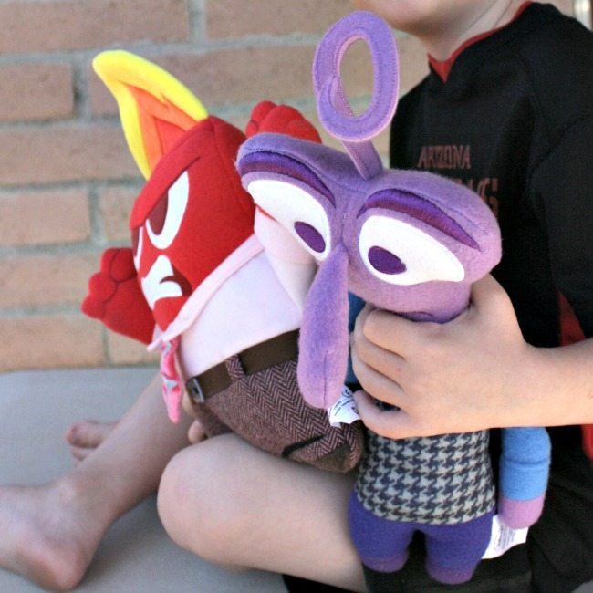 Anger and Fear stuffed animal storage