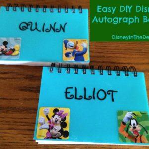 Easy DIY Disney Autograph Books