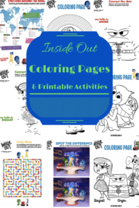 Inside Out Coloring Pages and Printable Activities