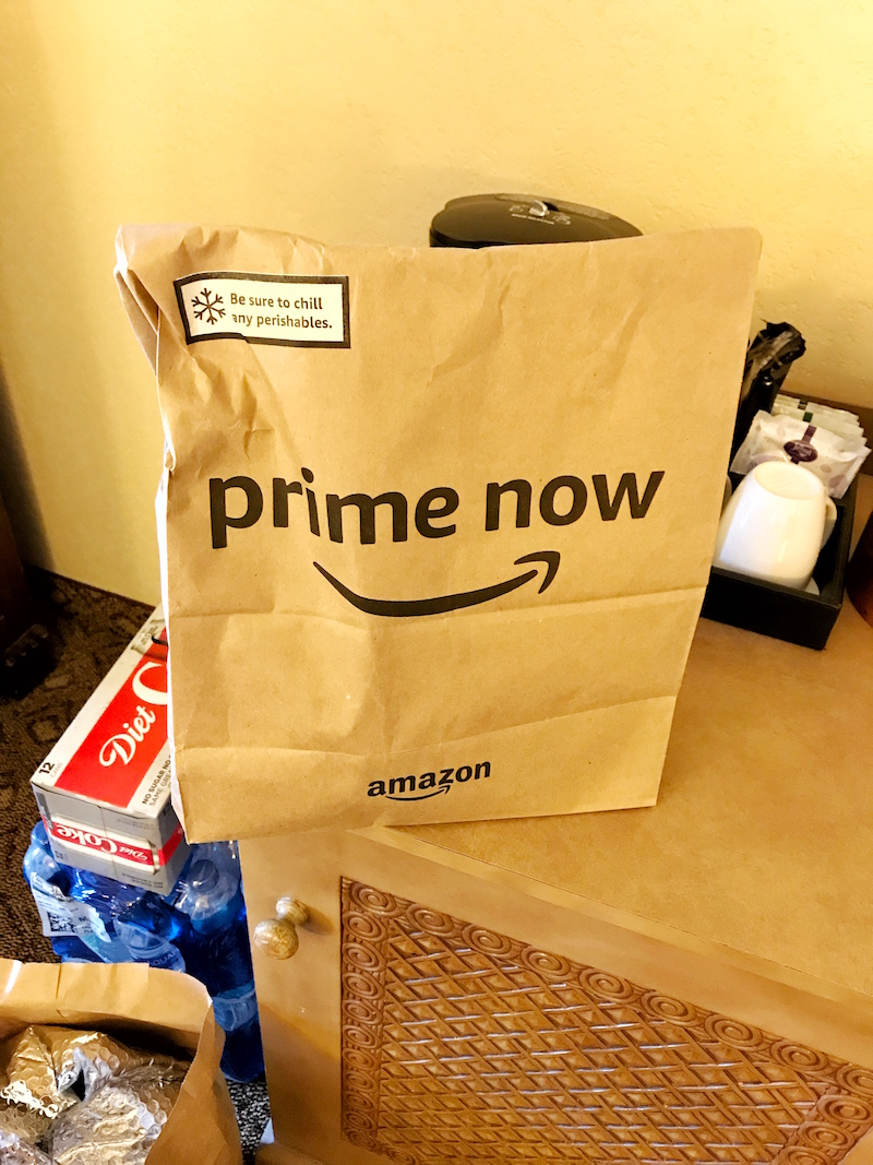 Things to bring on a disney trip include food or Order groceries on a Disney trip from Amazon Prime Now