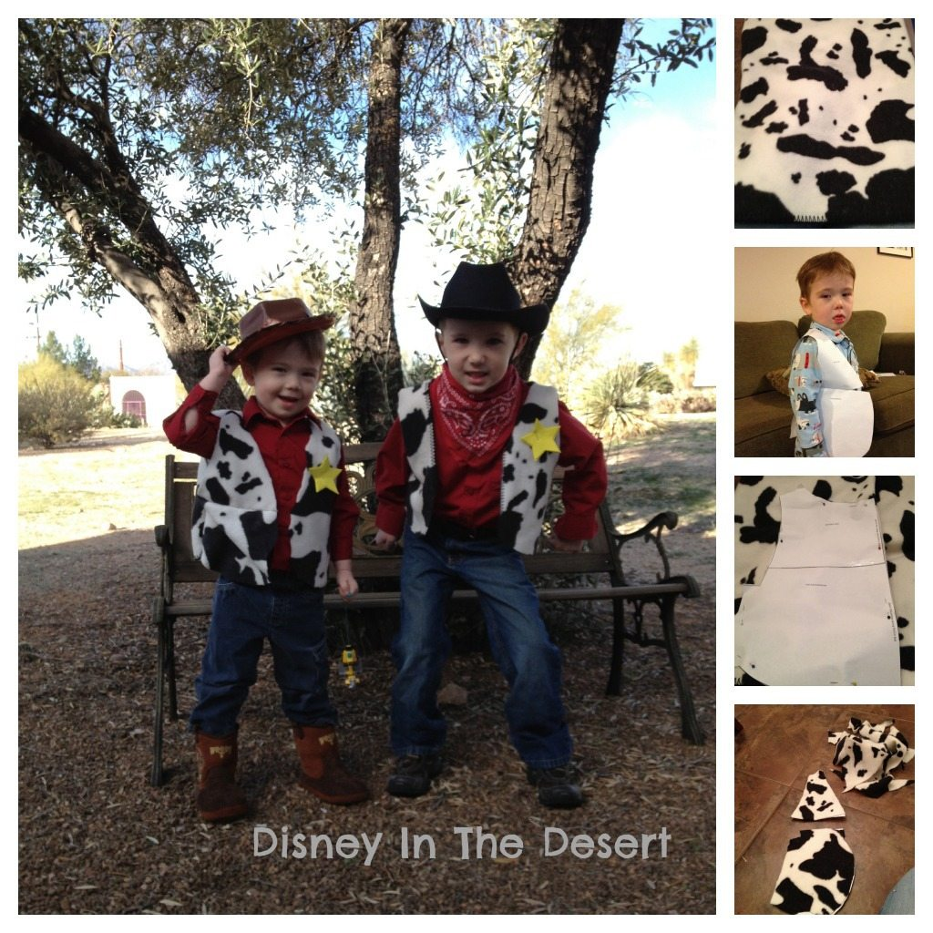 Are you looking for an easy toy story costume ideas? This DIY Woody costume Vest is perfect for the rodeo or a cowboy Halloween costume!