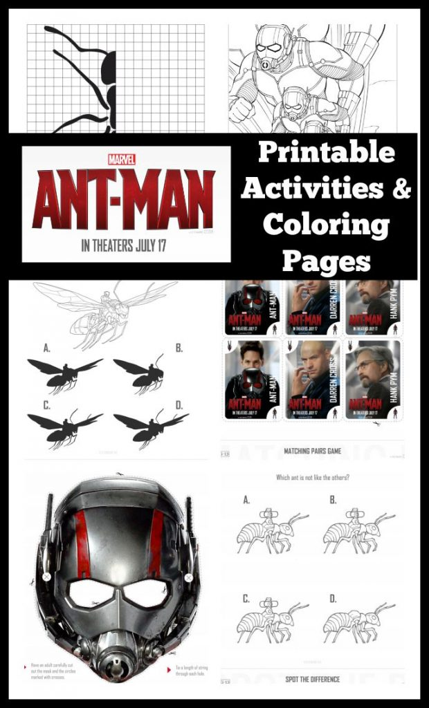 AntMan Printable Activities and