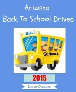 Arizona Back To School Drives 2015
