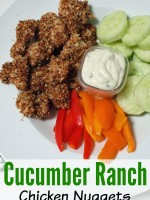 Baked Cucumber Ranch Chicken Nuggets