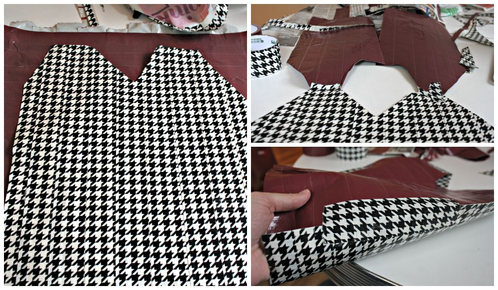 DIY Houndstooth Vest for Fear Inside Out Costume