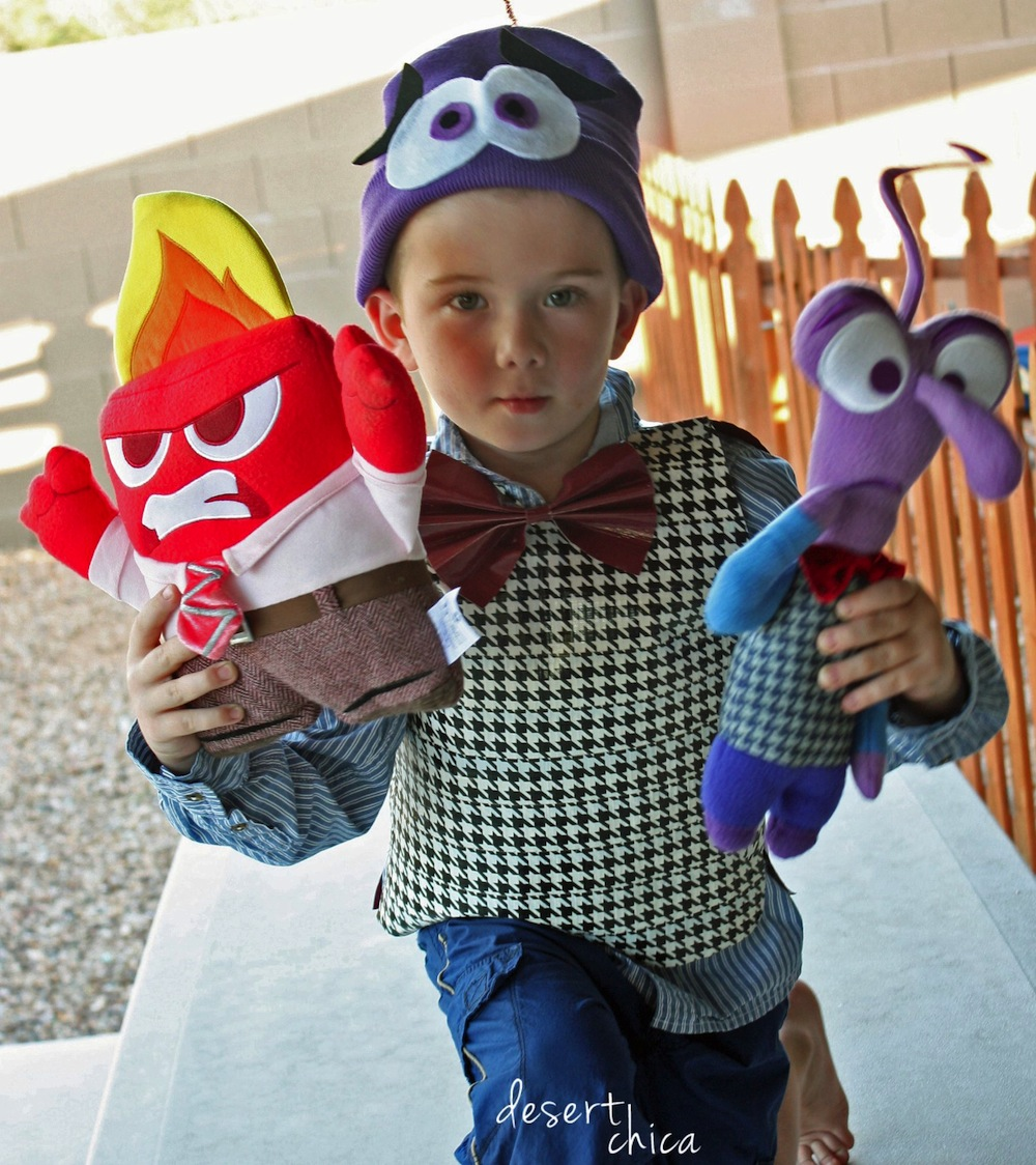 DIY Inside Out Fear Costume and Friends